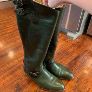 Hunter Green Frye Riding Boots!